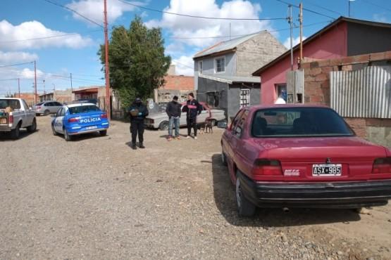 Una de las casas allanadas por la policía.