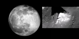 """Una foto de la NASA revelaría una """"pirámide"""" en la Luna"""