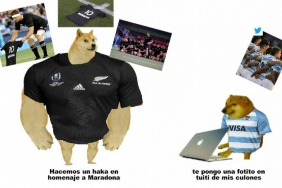 Los Pumas se olvidaron de Diego Maradona y en Twitter los liquidaron con memes