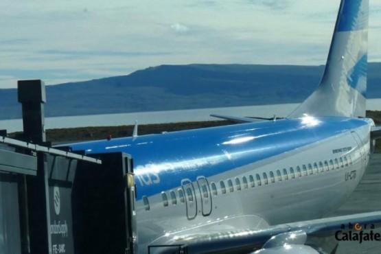 Diez vuelos a El Calafate para todo diciembre