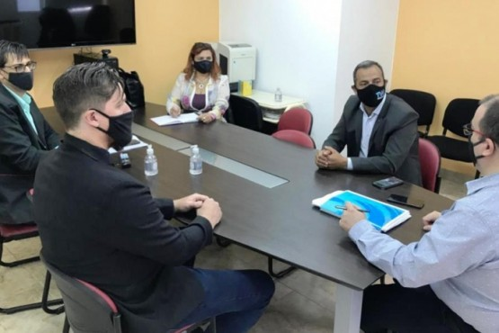 El Ministro Hermida se reunió con el Secretario de Desarrollo Social de Trelew