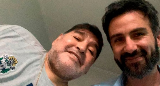 Maradona y Luque.
