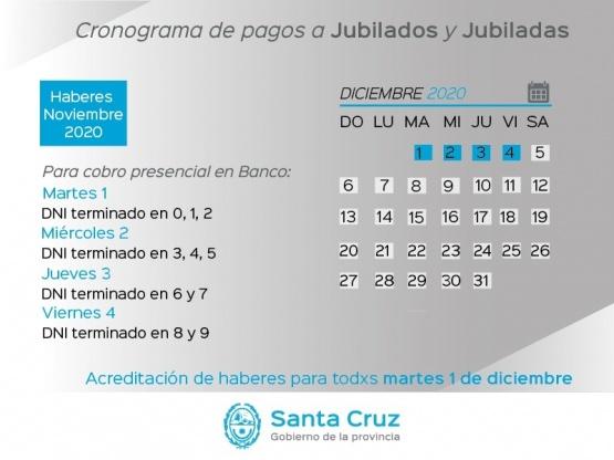 Santa Cruz| Mirá el cronograma de pago a jubilados