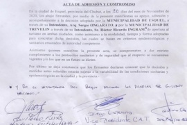 Esquel  Ongarato envió un escrito al Gobernador Arcioni