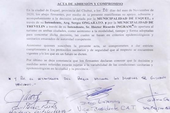 Esquel| Ongarato envió un escrito al Gobernador Arcioni