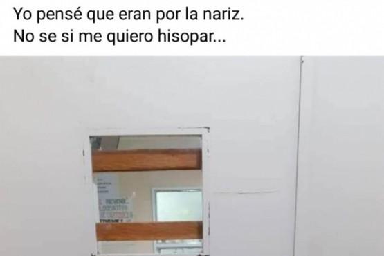 Se hizo viral un ´llamativo´ cartel informativo sobre hisopados en El Chaltén