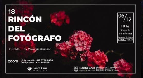 Santa Cruz| Nueva edición del Rincón del Fotógrafo: Es el turno de Ivy Perrando