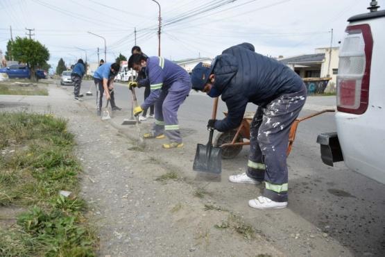 Río Gallegos| Se realizó un gran despliegue para limpieza de barrios