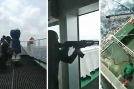 Tripulantes filmaron cómo su barco fue atacado por piratas