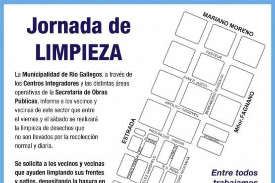 Río Gallegos| Mañana comienza un nuevo operativo integral de limpieza en barrios