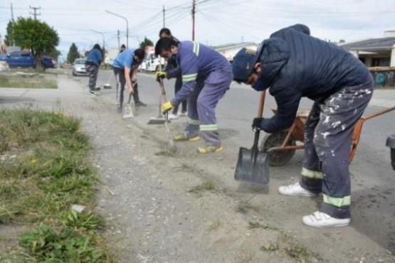 Operativo de limpieza en el barrio