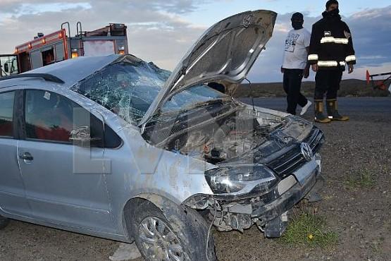 Caleta Olivia| Sufrió heridas al volcar con su vehículo en la ruta 12