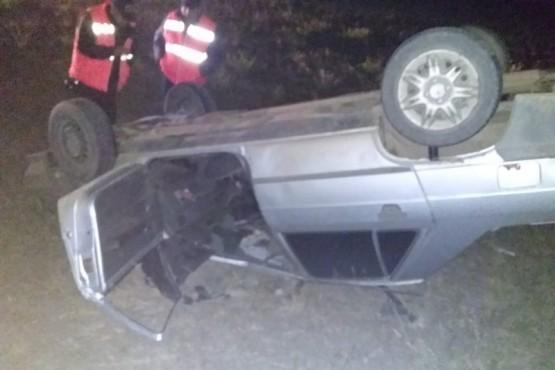 Río Gallegos| Conductor alcoholizado ´pinchó´ y volcó en Asturias