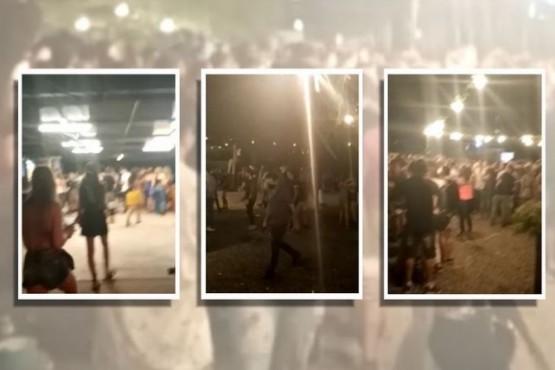 Desarticularon una mega fiesta ilegal con casi 500 personas