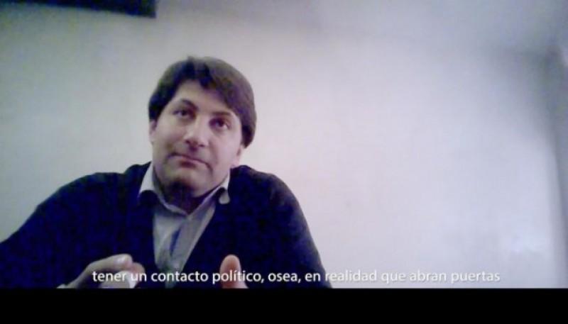 La cámara oculta al diputado provincial Sebastián López FOTO: CEDOC