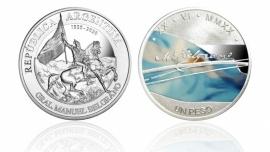 Emiten una moneda en colores, en homenaje a Manuel Belgrano