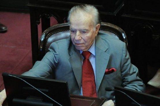 Internaron al senador Carlos Menem