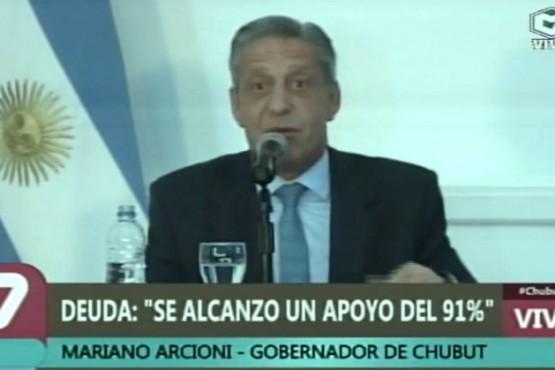 Arcioni anunció el acuerdo de Chubut por la reestructuración de la deuda con bonistas