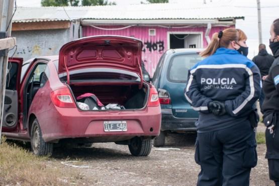 El rodado fue secuestrado por el personal policial. (Foto: L.F.)