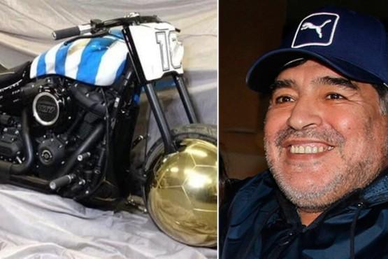 """La historia detrás de la excéntrica motocicleta """"Yo soy Diego"""": en cuánto está valuada"""