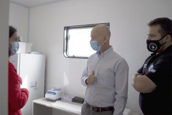Caleta Olivia| Nuevo punto de testeo junto al laboratorio móvil del Sindicato de Petroleros