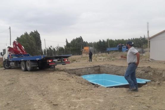 En allanamiento encuentran piscina robada: estaba lista para ser instalada