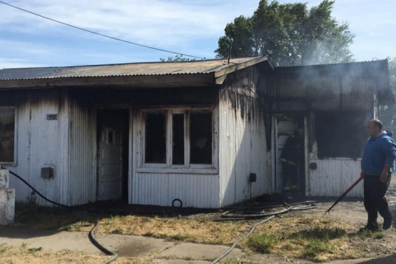 Puerto Santa Cruz| Perdió todo en un incendio y fue hospitalizado