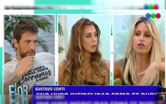 La pareja en un programa de televisión.
