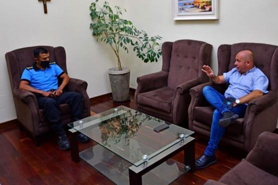 Rawson| Sastre recibió en casa de Gobierno al Jefe de a Policía