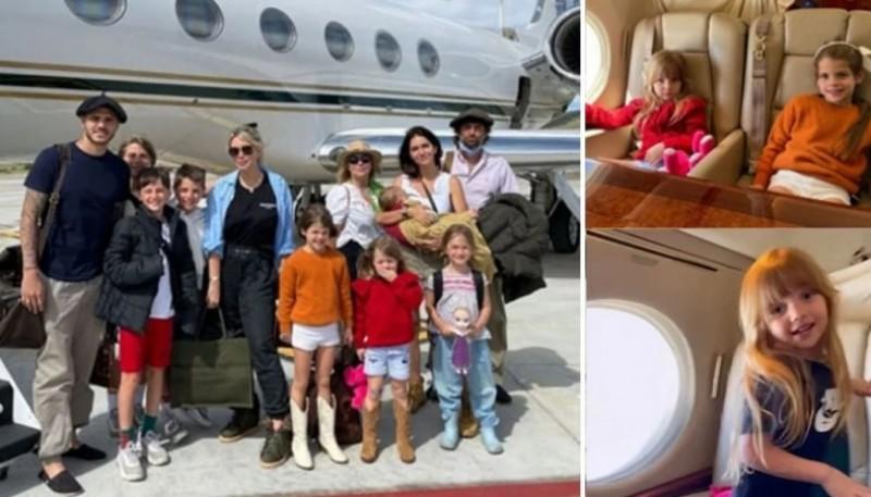 Las fotos de Wanda y Zaira Nara viajando al sur en familia