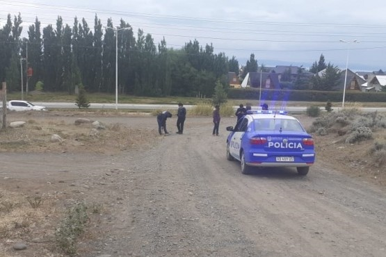 Lugar donde el personal policial realizó rastrillajes.