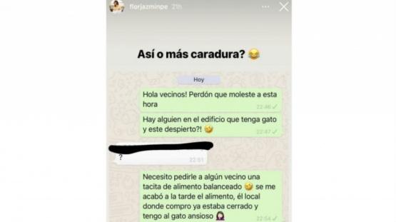 El inesperado pedido de Flor Jazmín Peña a sus vecinos