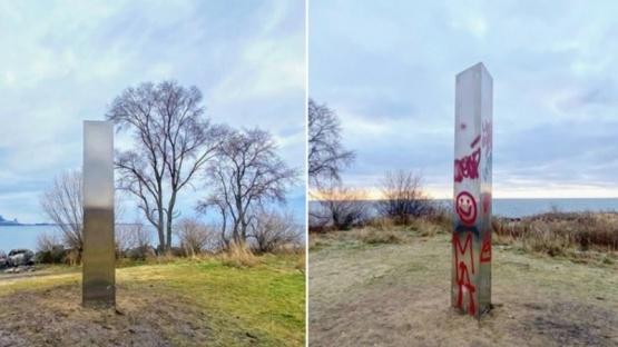 Resurge el misterio: apareció un monolito en Canadá