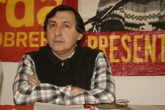 Omar Latini, dirigente del Partido Obrero.