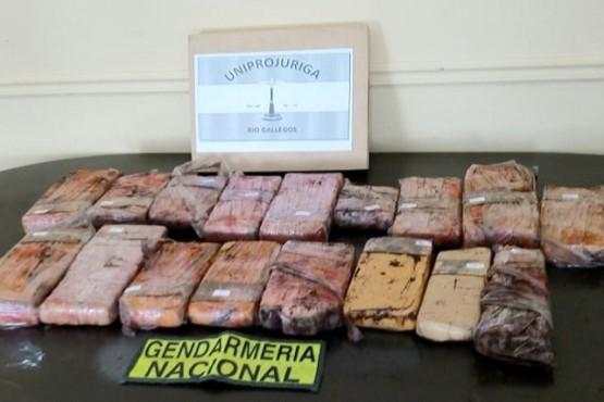 La sustancia fue secuestrada por el personal de Gendarmería Nacional.