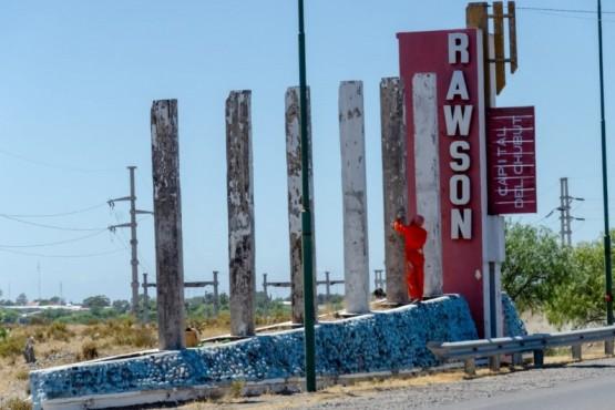 Rawson| Se  ejecuta plan de remodelación integral de la avenida Libertad
