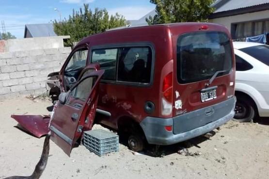 Estado en que encontró su camioneta Alejandro.