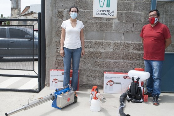 Caleta Olivia  Nuevo equipamiento para desinfecciones