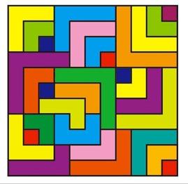 Reto viral: encontrar la cruz en el laberinto de colores