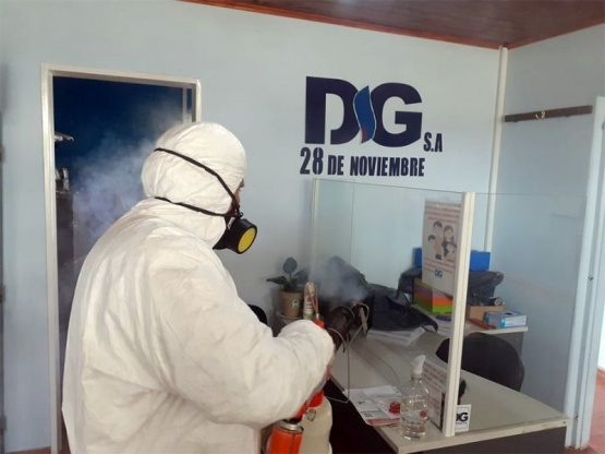 28 de noviembre| Desinfectaron oficinas de Distrigas