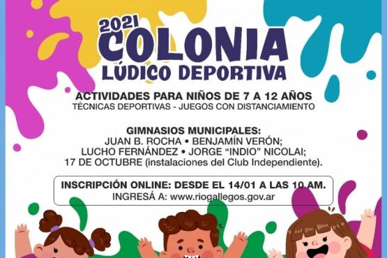 Río Gallegos| El próximo lunes comienzan las Colonias de Vacaciones