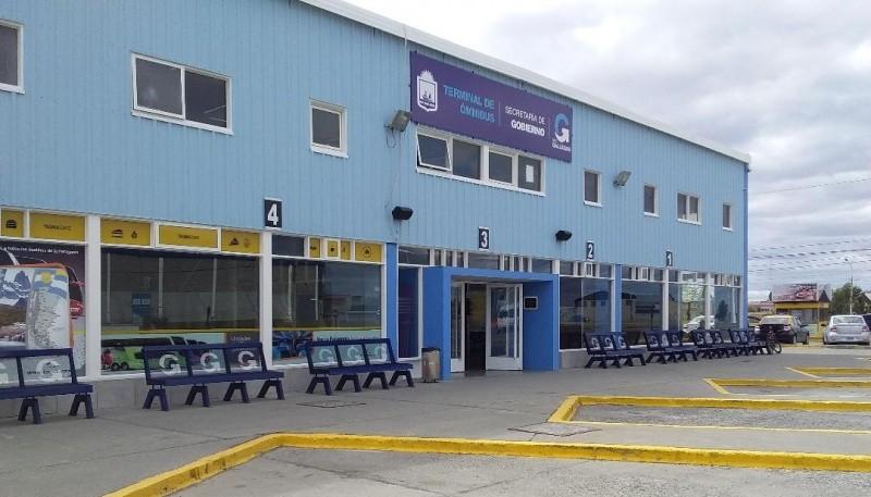 La terminal de Río Gallegos desierta
