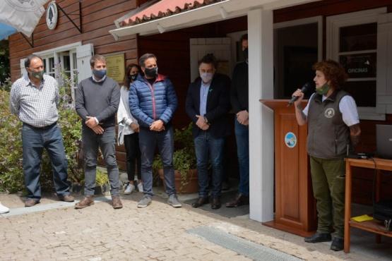 Juan Cabandié, ministro de Ambiente de la Nación junto a las autoridades provinciales.