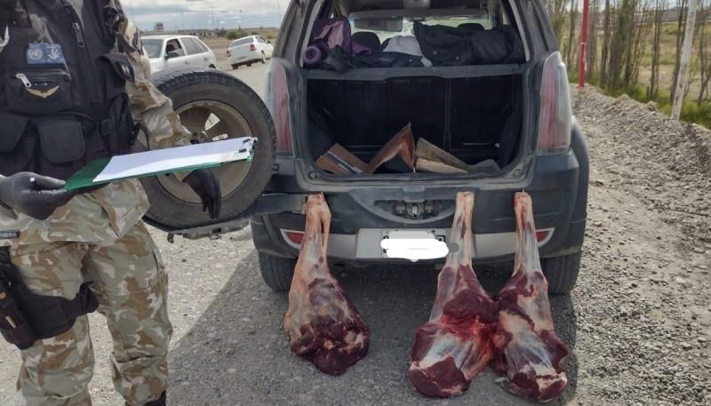 La carne fue encontrada en el baúl del auto.