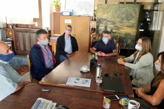 Menna desarrolló una agenda de reuniones en Gobernador Costa, Esquel y Trevelin