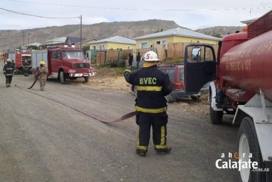 Los bomberos lograron controlar la situación
