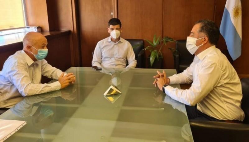 El vicegobernador Eugenio Quiroga y el Intendente Cotillo en la reunión con Arnaldo Medina.