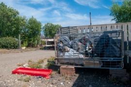 Río Gallegos  Vecinos queman la basura porque no pasa el camión recolector