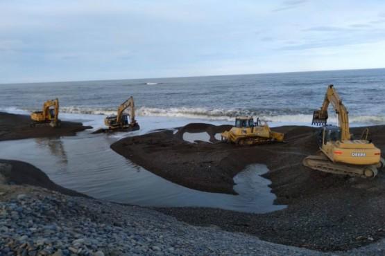 Planta de Osmosis Inversa: la marea no permitió terminar la reparación del caño