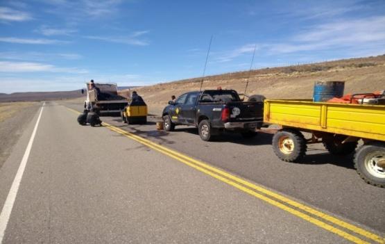 Tareas de mantenimiento sobre la ruta 40